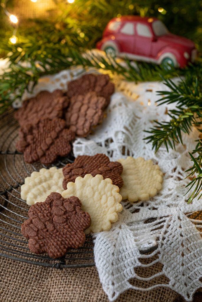 Weihnachtskekse in Haekeldeckenoptik nach einem Rezept von Sweets & Lifestyle®