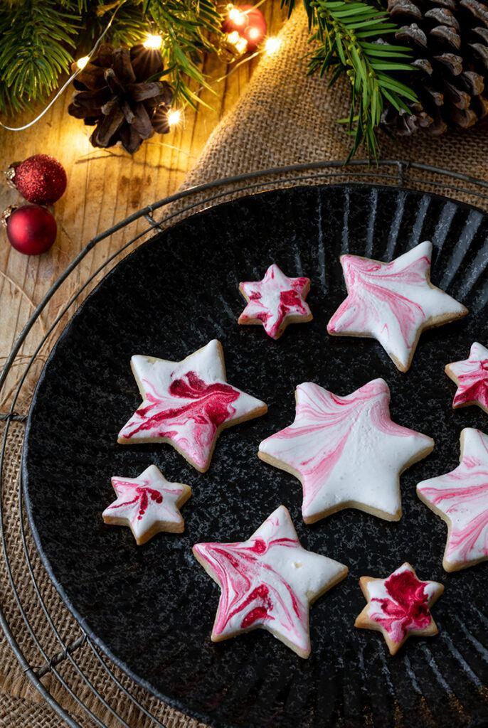 Weihnachtskekse mit Marmoreffekt nach einem Rezept von Sweets & Lifestyle®