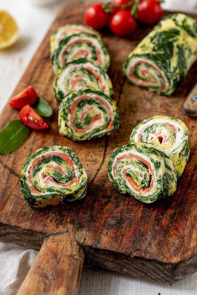 Leckere Spinat Lachs Roellchen als Low Carb Fingerfood nach einem Rezept von Sweets & Lifestyle®