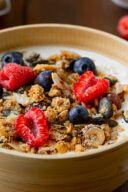 Rezept fuer ein selbst gemachtes Low Carb Knuspermuesli mit Nuessen von Sweets & Lifestyle®