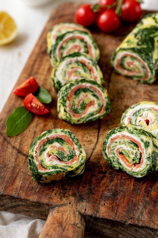 Low Carb Spinat Lachs Roellchen als leckeres Fingerfood nach einem Rezept von Sweets & Lifestyle®