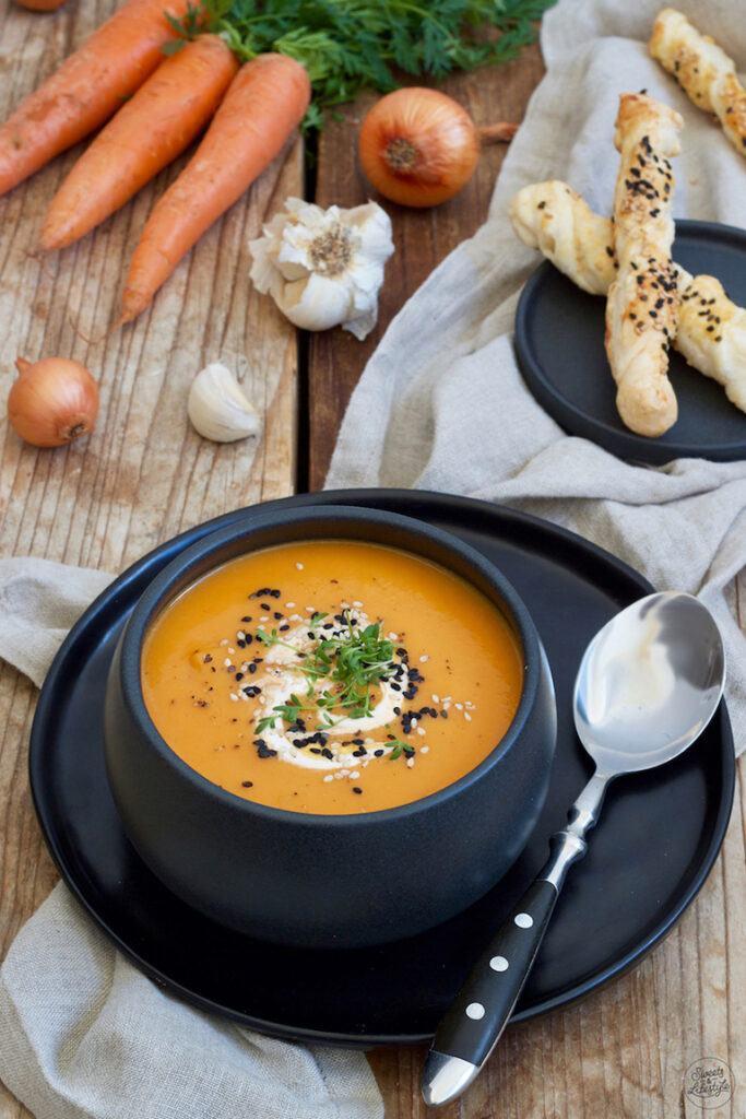 Einfache Karottencremesuppe nach einem Rezept von Sweets & Lifestyle®