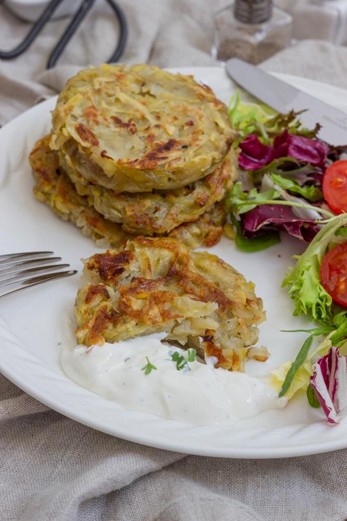 Leckere Kartoffelpuffer aus rohen Kartoffeln nach einem Rezept von Sweets & Lifestyle®