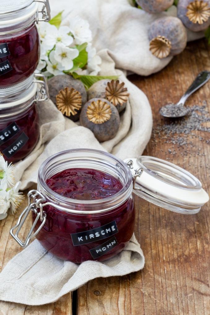 Kirsche Mohn Marmelade die Marmelade mi dem gewissen Etwas nach einem Rezept von Sweets & Lifestyle®