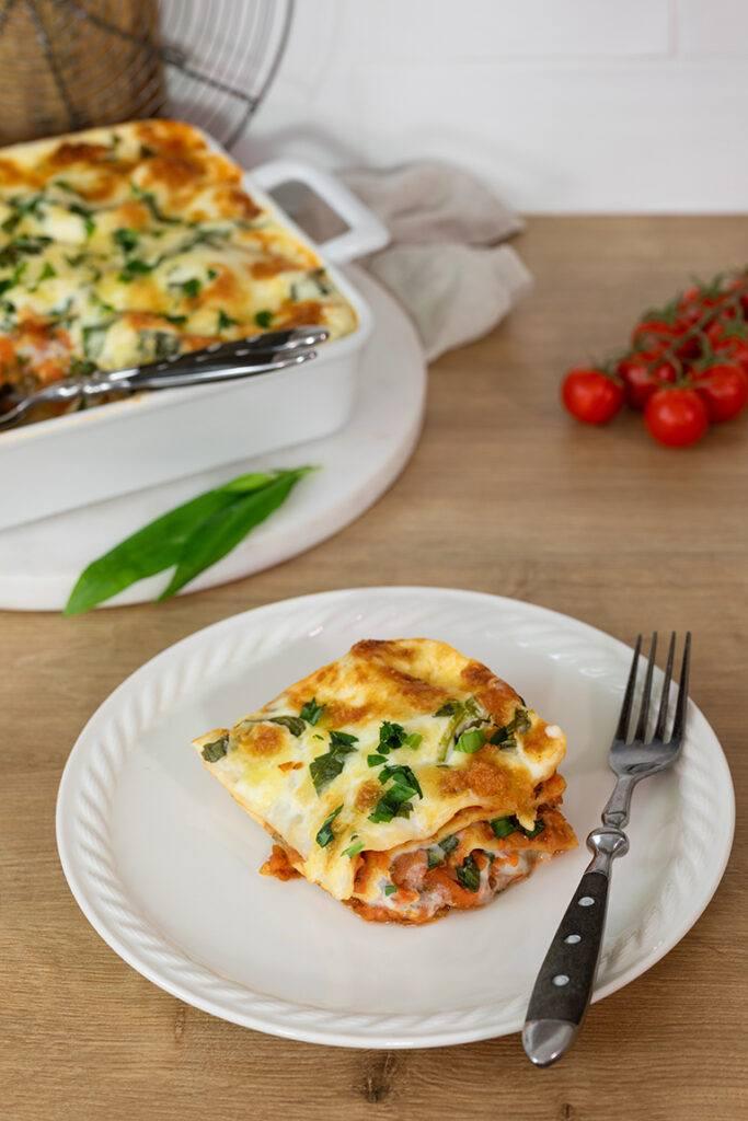 Vegetarische Baerlauch Lasagne mit selbst gemachten Lasagneplatten nach einem Rezept von Sweets & Lifestyle®
