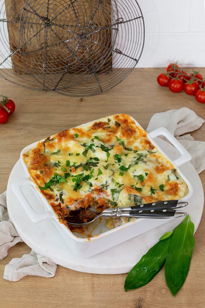 Leckere vegetarische Baerlauchlasagne nach einem Rezept von Sweets & Lifestyle®