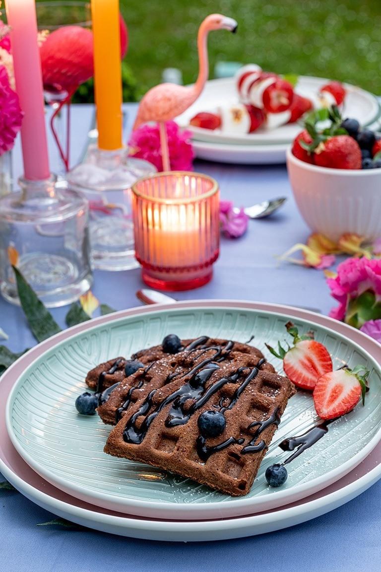 Saftige Schokowaffeln vom Grill als Dessert bei der Grillparty nach einem Rezept von Sweets & Lifestyle®