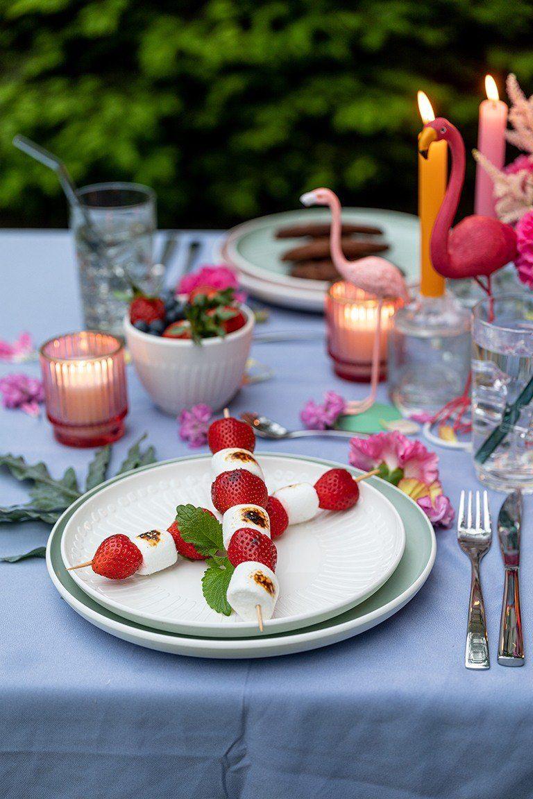 Selbst gemachte Marshmallow Erdbeer Spiesse vom Grill nach einem Rezept von Sweets & Lifestyle®