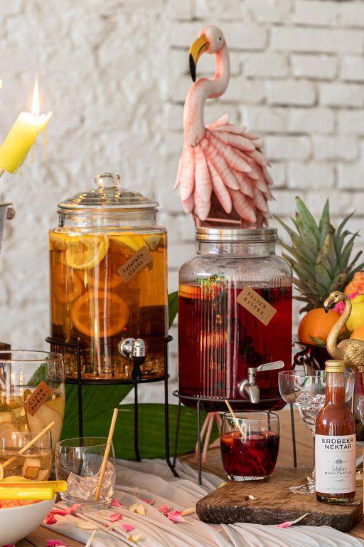 Alkoholfreie Getraenke nach Rezepten von Sweets & Lifestyle® bei der Gartenparty im Kochstudio SchlossStudio im Weinviertel